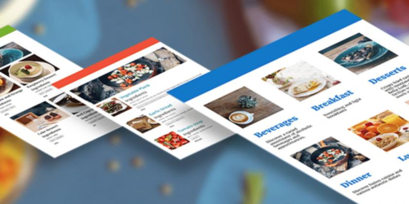 online restaurant menu design tool